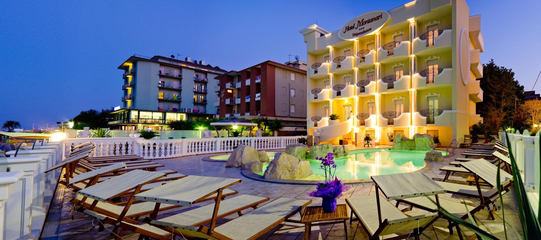 Hotel montanari 3 stelle bellaria con piscina ideale per famiglie direttamente sulla spiaggia - Hotel con piscina bellaria ...